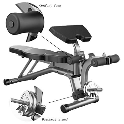 Adjustable Benches Dumbbell Stool Folding Abs Board Bench Press Bird Fitness Exercise Chair Multi-functional Abdominal Exercise Equipment