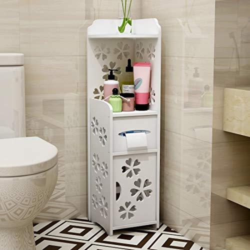 MTHomes Modern Bathroom Armadio ad angolo Armadio a scomparsa Contenitore per servizi igienici Contenitore inferiore con sportello di apertura destro o sinistro
