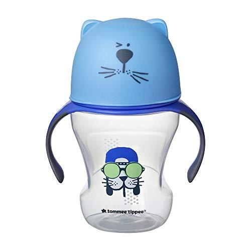 Tommee Tippee Taza De Aprendizaje Boquilla Silicona Suave, 230 ml, Azul