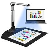 TELAM Scanner Di Documenti Portatile Formato A3 / A4, Supporto Per Acquisizione Scanner,12 Mp Ocr Multilingue, Usb, Scanner Di Documenti Per Presentazioni In Ufficio E Per L'Istruzione
