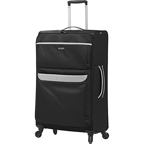 Mia Toro Italy Bernina Softside 28 Inch Spinner Luggage Suitcase, 84 cm, Black