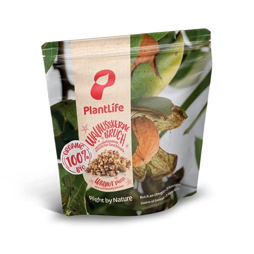 PlantLife BIO Walnusskerne Bruch 1kg - Rohe, Wildgesammelte und Naturbelassene Walnüsse - 100% Recyclebar