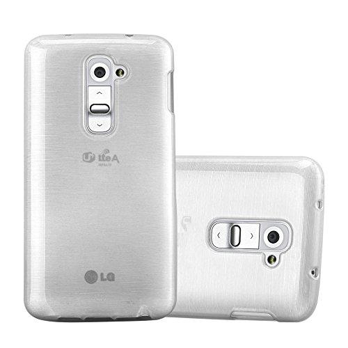 Cadorabo Hülle für LG G2 Mini in Silber - Handyhülle aus flexiblem TPU Silikon - Silikonhülle Schutzhülle Ultra Slim Soft Back Cover Case Bumper