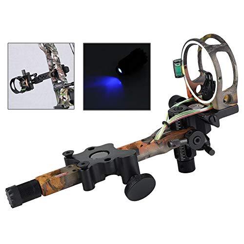 Zero ne Compound Bow Field Archery Sight 5 Pin Light Arrow Rest Adjustable...