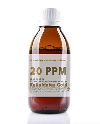 Kolloidales Gold hochkonzentriert 20PPM - 500ml Goldwasser (Reinheitsstufe 99,99%) Kolloidales Gold 20 PPM (500ml)