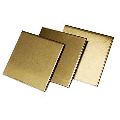 H62 Messingplatte Messingplatte Messingstange Messing-Block Messing-Block Messing reines Messing Dicke 0,5 1 2 3 4 5 mm Messingblech 3 Stück, Thickness : 3 mm, 1