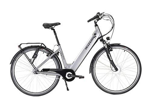 Allegro Unisex– Erwachsene Comfort Plus 03 E-Bike, Silber, 45 cm