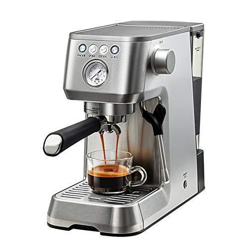 BLLXMX Machine à café Expresso à Pompe Traditionnelle, 16 Bars 1420W cafetière à Expresso Traditionnelle Italienne avec Mousse de Lait, 1,7 Eau Amovible