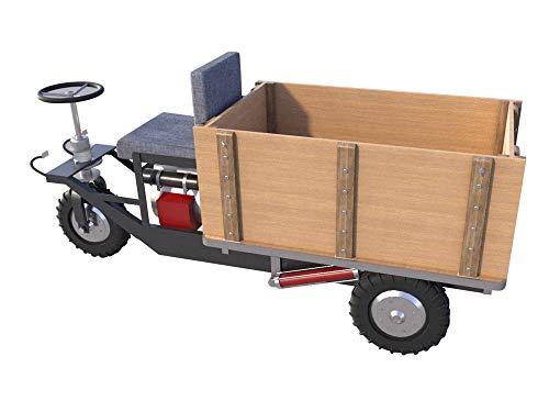 Mini Dump Truck Plans DIY Homemade Garden Tractor Small Hydraulic Dump Trailer