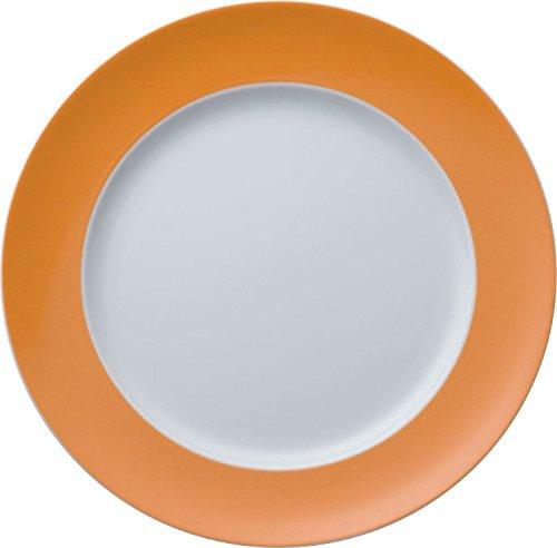 Thomas Sunny Day Assiette Plate, Porcelaine, Orange, Passe au Lave-Vaisselle, 27 cm, 10227
