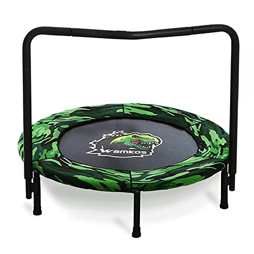 2021 Upgraded Dinosaur Mini Trampoline for Kids with Handle, Foldable...
