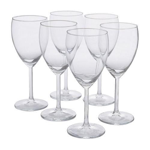 IKEA SVALKA -Weißweinglas Klarglas / 6 pack - 25 cl