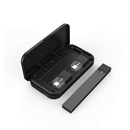 Mobiles Ladegerät CigGo-B, Ladebox und Transporttasche, speziell für den Zerstäuber von Juul. Akku 900 mAh. Mini und tragbar. Schwarz