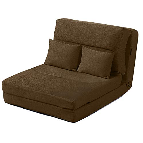 XYZCUP Deck Chair Can Sit For Two Sun Loungers Multiple Modes Garden Chairs Soft And Comfortable Folding Chair Wear-Resistant And Dirt-Resistant,Brown