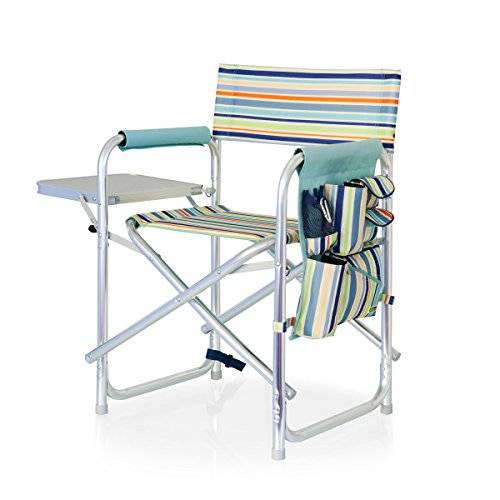 ONIVA - a Picnic Time Brand Portable Folding Sports Chair, St. Tropez Stripe , 33 x 5 x 21