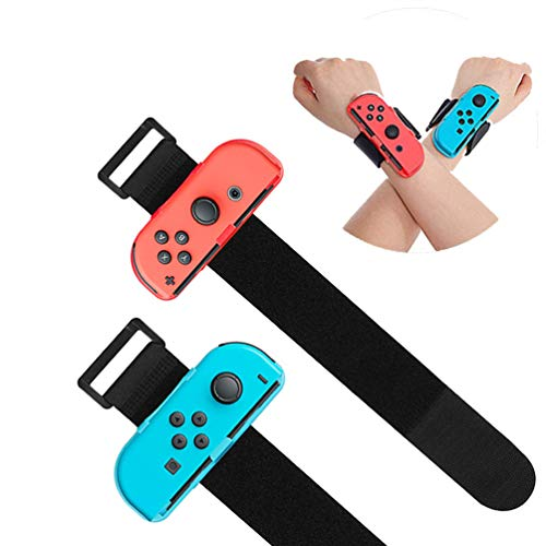 Indoor Sports Wrist Band for Nintendo Switch Game Dance, VANJUNN Sports Gym Wrist Band with Adjustable Hand Arm Strap for Joy-Cons Controller Leg and Wrist Straps(2pcs PACK)