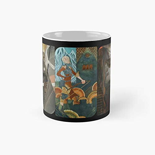 Dragon Age Inquisition Companion Tarot Cards Classic Mug   Best Gift Funny Coffee Mugs 11 Oz