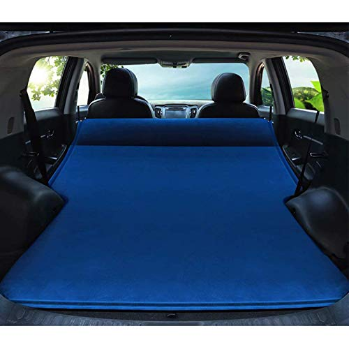 Adecuado para Q5 / TIGUAN 5N_ / Hyundai Tucson/Hyundai Joyful Mover/GT tronco hinchable grueso para maletero inflable automático cama de camping Air Mat Azul -