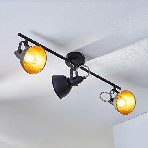 Lindby Strahler 'Julin' dimmbar (Modern) in Schwarz aus Metall u.a. für Wohnzimmer & Esszimmer (3 flammig, E14, A++) - Deckenlampe, Deckenleuchte, Lampe, Spot, Wohnzimmerlampe