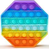 APPSOLS pop it Fidget Toy, fidgets Toys, Baby Spielzeug, figetttoys, popit, unter 10 Euro Kinder, Squishy Toys, Anti Stress Popet (Rainbow Octagon)