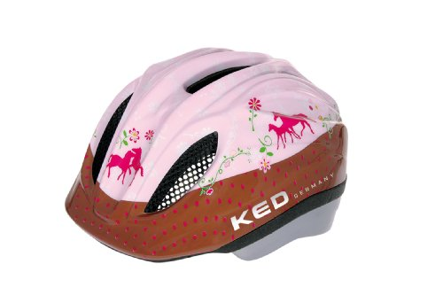 KED Unisex Fahrradhelm Meggy Original, Mehrfarbig (Pferdefreunde) , 52-58