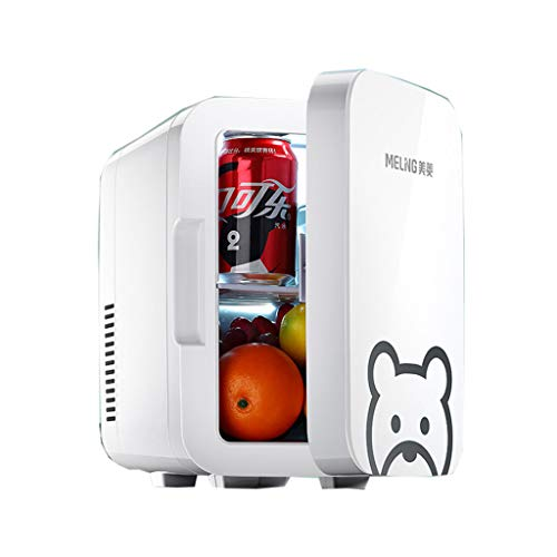 Mini Mesur Refrigerador Y Calentador De 6L/10L De Litro, Nevera Portátil Eléctrica Súper Portátil Caja Fría 12V/220V para Viajar Y Hogar