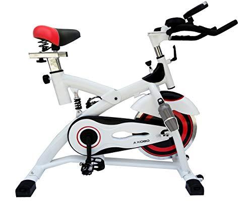 Kobo Exercise Spin Bike with Steel Wheel