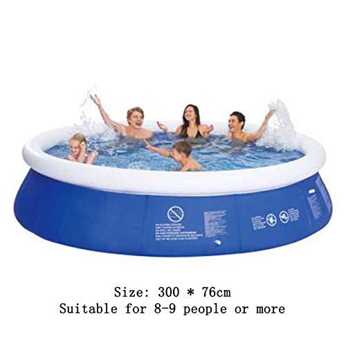 SHARESUN Aufblasbarer Pool, 300 * 76Cm Rechteckiger Pool Für Kleinkinder, Kinder, Familie, Above Ground, Hinterhof, Außen, Außenpool