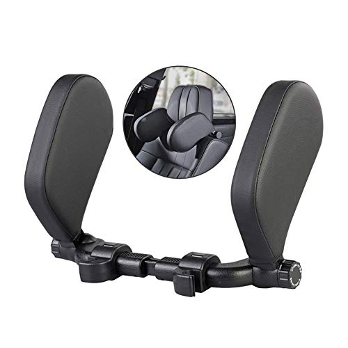Alpha Rider Kopfstütze für Auto, Halsschutz mit verstellbarer Schiebestange, für Reise, Erwachsene und Kinder, zum Schlafen, 24 cm, Schwarz