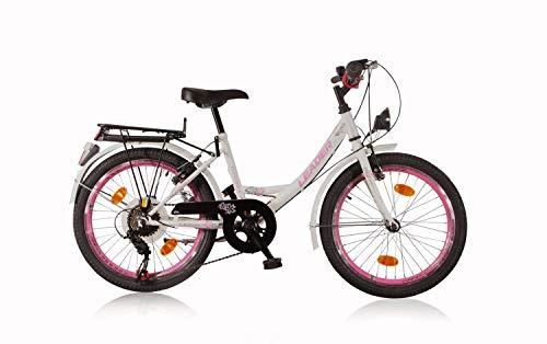 tretwerk DIREKT gute Räder Eleganca 20 Zoll Kinderrad, Mädchen-Fahrrad 6-Gang Kettenschaltung