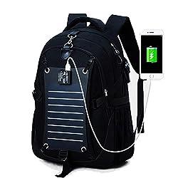 MAGIC UNION Laptop Rucksack Backpack Schulrucksack mit solar Charge für bis zu 15.6 Zoll Notebook Computer für Campus Studenten Arbeit Outdoor Reisen Wandern mit Großer Kapazität