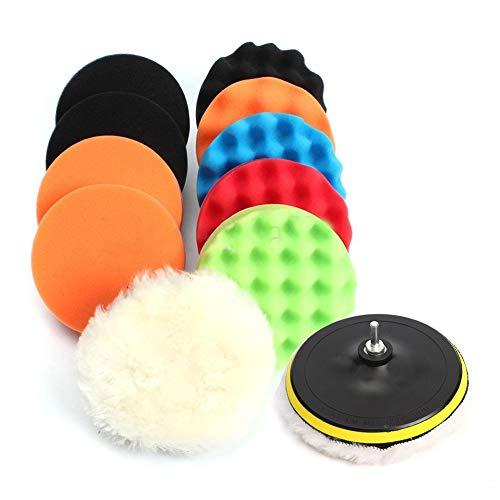 Juego de 11 almohadillas de pulido de 7,62 cm para pulidor de coche, utilizadas para encerar, pulir detalles y sellar varios topcoats, utilizados para pulir detalles de coche.
