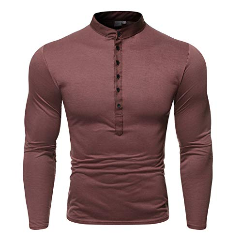 Camiseta de manga larga casual con cuello en V para