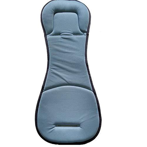 Matelas bleu et gris pour transat compact évolutif gris