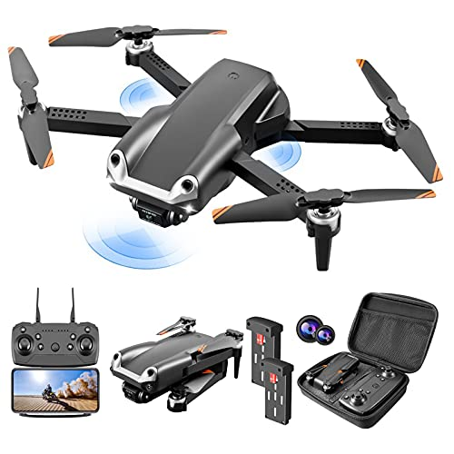 Drone Avec Caméra 4K HD Pliable Quadcopter Fonction D'évitement D'obstacles 30 Minutes 2Batteries Double Caméra Zoom 50X 360°Flip Mode Sans Tête Helicoptère Télécommandé À Enfants Adultes Débutants