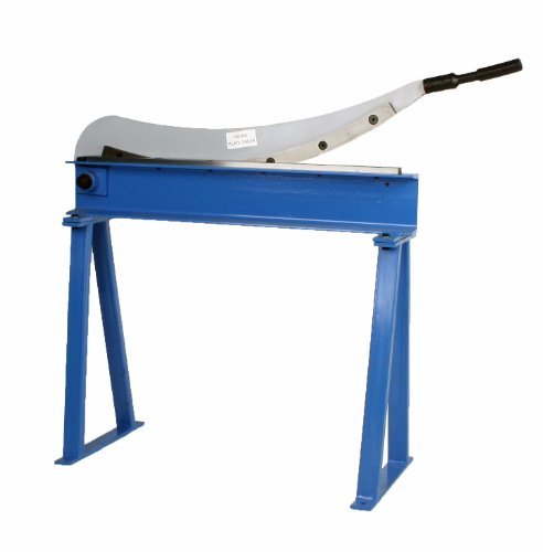 For Sale! Erie Tools Manual Guillotine Shear 32 x 16 Gauge Sheet Metal Plate Cutting Cutter w/ Stan...