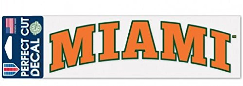 NCAA University of Miami Hurricanes 3  X 10  Decal