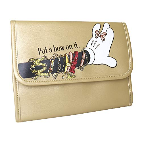 Disney Minnie Mouse Put A Bow On It Faux Leather Envelope Jewelry Clutch