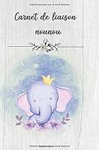Carnet de liaison Nounou: Cahier de transmissions pour la garde d'enfants - 255 pages pour une belle année avec l'assistante maternelle (French Edition)