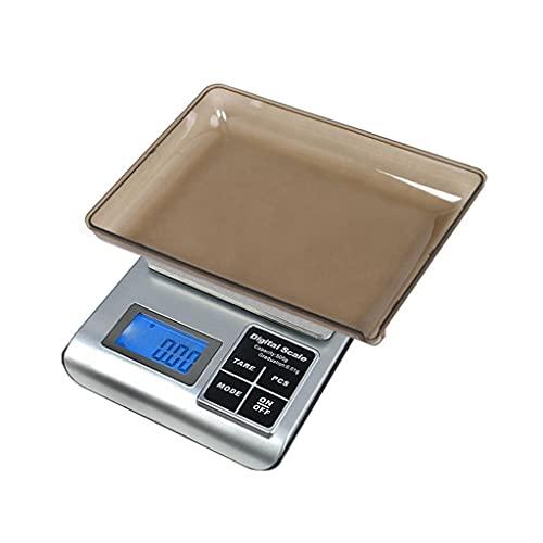 DEF Escala de Cocina Digital Escalas de Alimentos de Alta precisión Escala de joyería 0.1g/ 0.01g, cocción portátil Que Pesa con función de Tara (Specification : 500g/0.01g)