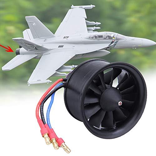 Naroote Hélice de Ventilador de 11 Cuchillas para EDF 50 mm, con Motor para Accesorios de Modelo de avión de avión RC(KV4900 3S)