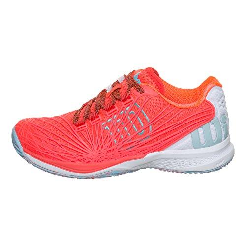 Wilson Kaos 2.0 Clay Court W, Zapatillas de Tenis Mujer, Naranja (Fiery Coral/White/Blue Curacao 000), 37 EU