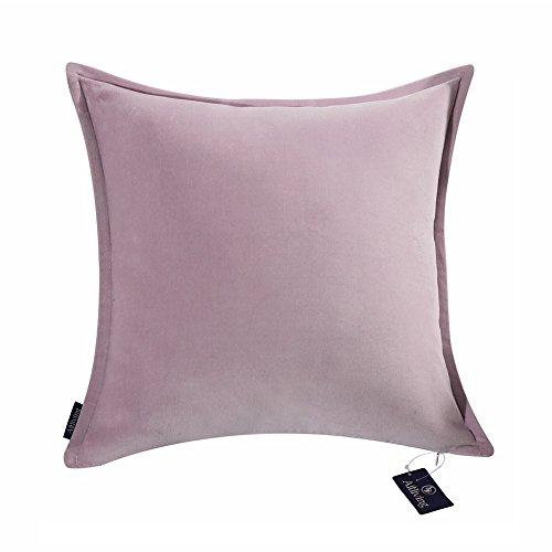Aitliving Cotton Velvet 1 pc Cotton Decorative Throw Pillow Cushion Cover Dusk Lilac 17x17 inches(43x43cm)