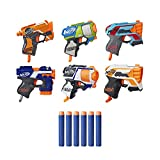 NERF MicroShots 6-Blaster Bundle - 6 Mini Dart-Firing Elite Blasters and 6 Official Elite Darts - for Kids, Teens, Adults (Amazon Exclusive)