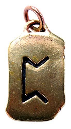 Kiss of Leather Colgante de runas Perthro de bronce n.º 100