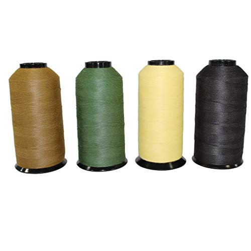 SGT KNOTS Military Grade Kevlar Thread for Crafting, DIY Projects & Boot Stitching Repair (30/3-4oz Spool, ODGreen)