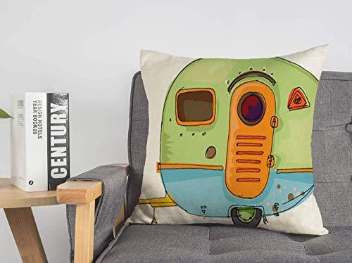 LREFON Doble Cojines Fundas 18' Caravana Relajación Viaje Viaje Vacaciones Transporte Camping Fuera de los Parques Campamento Funda Almohada Suave