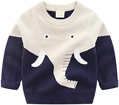 HUAER Baby Boys Girls Knit Sweater Unisex Cotton Cartoon Animal Pullover Sweatshirt 18 24Months product image