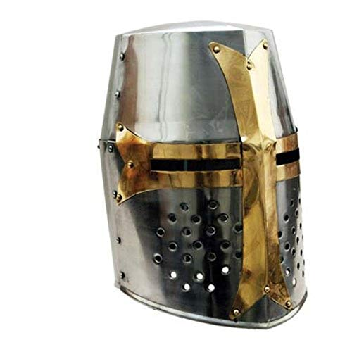 THORINSTRUMENTS (with device) Great Brass Crusader Helmet