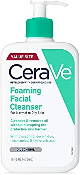 3-Count CeraVe Foaming Facial Cleanser
